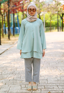 Leeya Layered Top (Dusty Green)