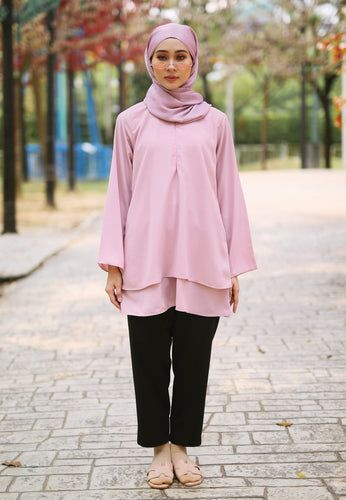 Leeya Layered Top (Dusty Pink)