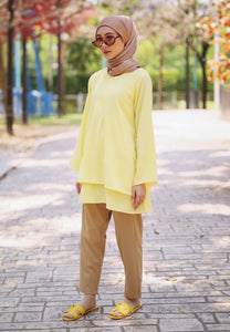 Leeya Layered Top (Soft Yellow)