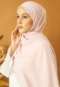 Atiyya Cotton Shawl (Soft Pink)