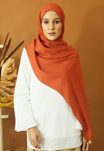 Atiyya Cotton Shawl (Earth Orange)
