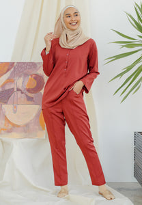 Hanaa Casual Tapered Set (Brick)