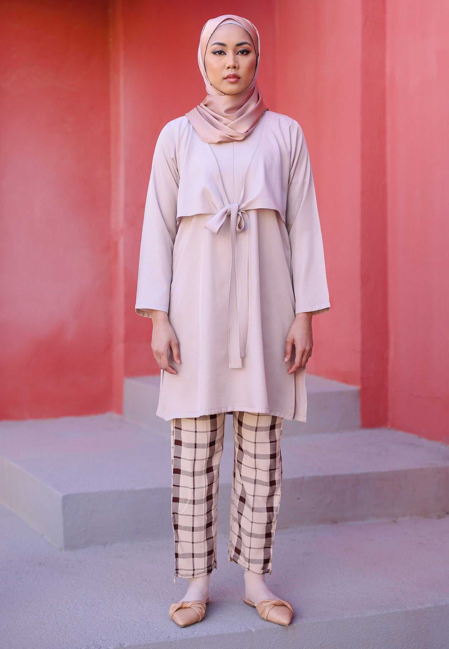 Waseema Tied Top (Soft Pink)