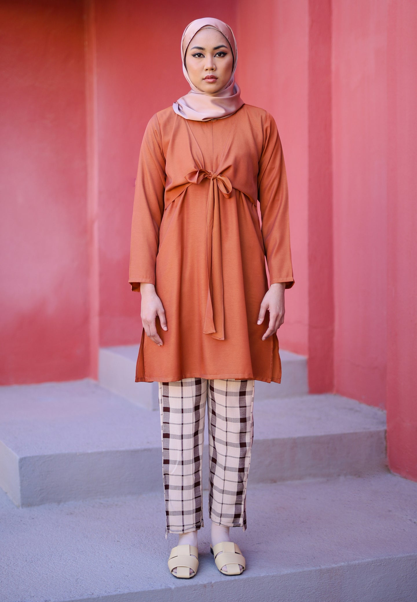 Waseema Tied Top (Earth Orange)