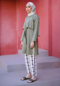 Waseema Tied Top (Olive Green)