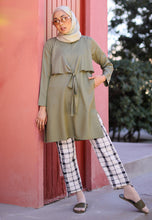 Load image into Gallery viewer, Waseema Tied Top (Olive Green)