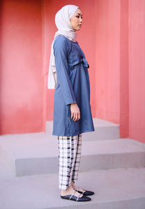 Waseema Tied Top (Space Blue)