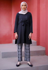 Waseema Tied Top (Black)