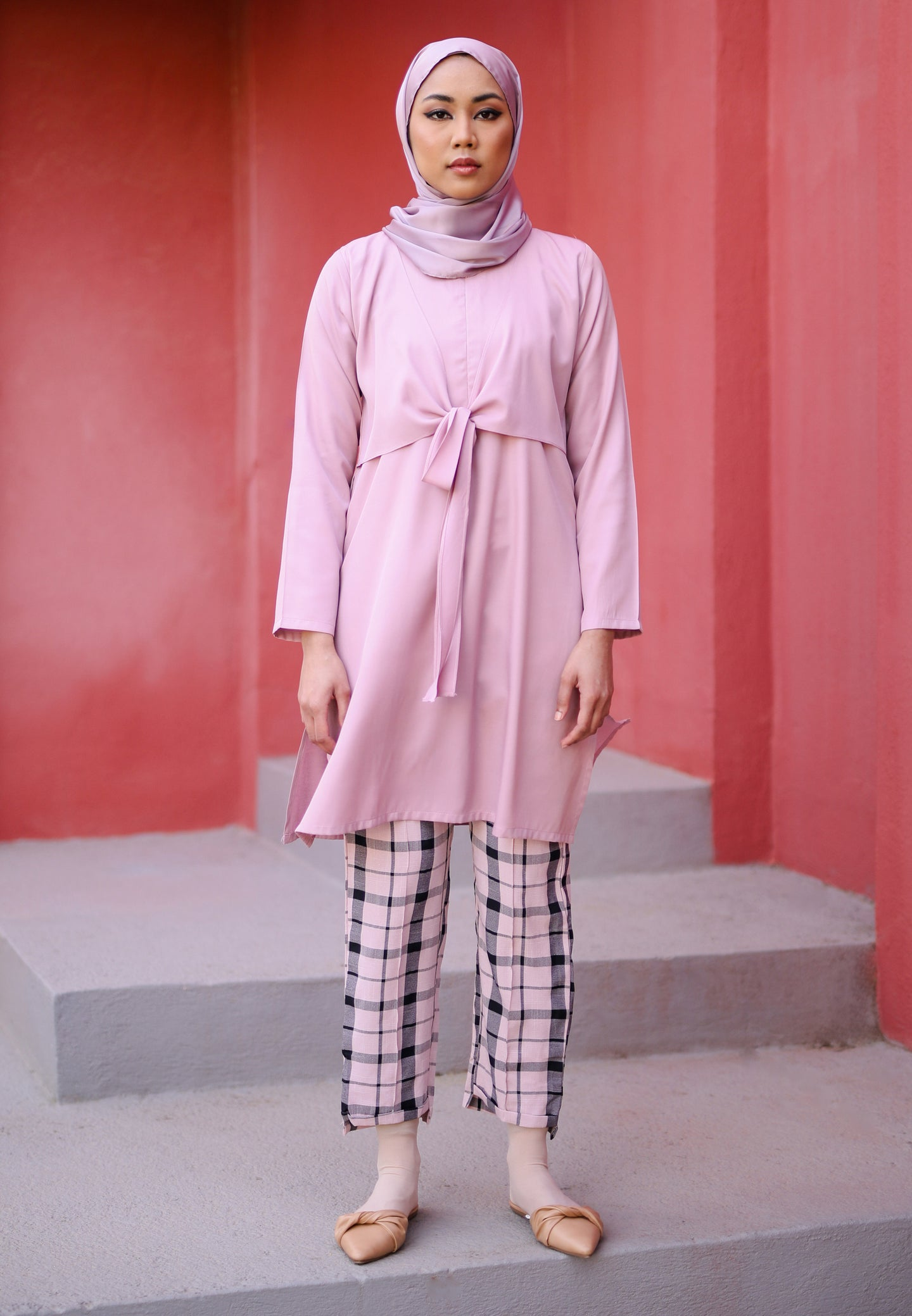 Waseema Tied Top (Rose Pink)