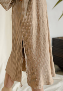 Dalia Pleated Top (Nude Gold)