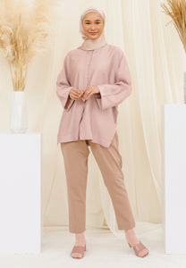 Auliaa Baggy Top (Taupe Pink)