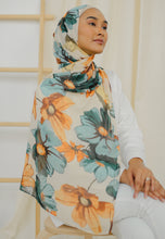 Load image into Gallery viewer, Rawdha Flower Shawl (Green)