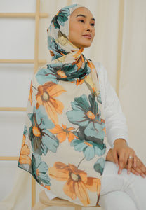 Rawdha Flower Shawl (Green)