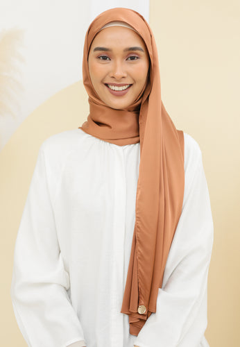 Suri Satin Shawl (Dark Brown)