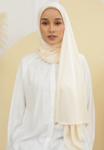 Suri Satin Shawl (Cream)