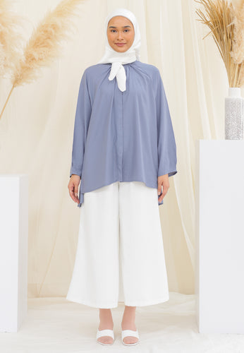 Shurah Baggy Top (Dusty Blue)