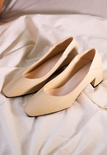 Adraa Classic Pumps (Cream)