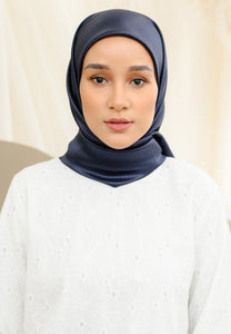 Zuhayra Square Scarf (Navy Blue)