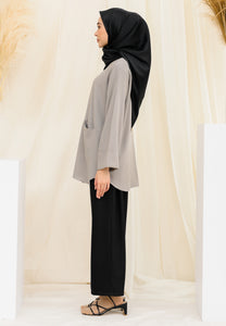 Habiba Pocket Top (Grey)