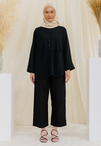 Habiba Pocket Top (Black)
