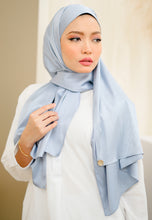Load image into Gallery viewer, Azalea Satin Shawl (Soft Blue)