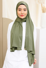 Load image into Gallery viewer, Azalea Satin Shawl (Olive Green)