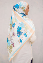 Load image into Gallery viewer, Elmeera Floral Shawl (Cream)
