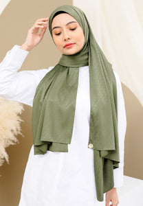 Azalea Satin Shawl (Olive Green)