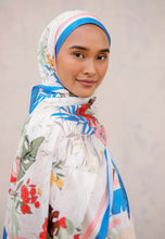 Load image into Gallery viewer, Elmeera Floral Shawl (Blue)