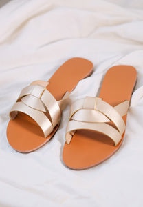 Chanda Slide Sandals (Gold)