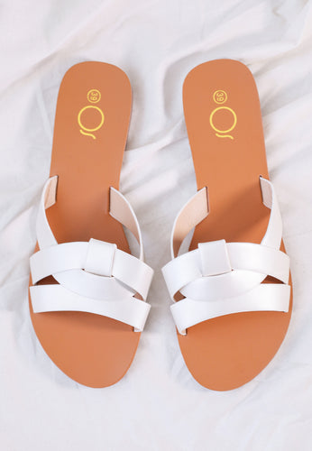 Chanda Slide Sandals (Shining White)