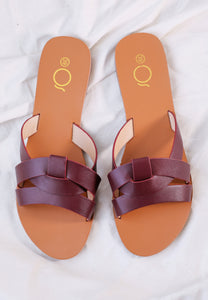Chanda Slide Sandals (Chocolate)