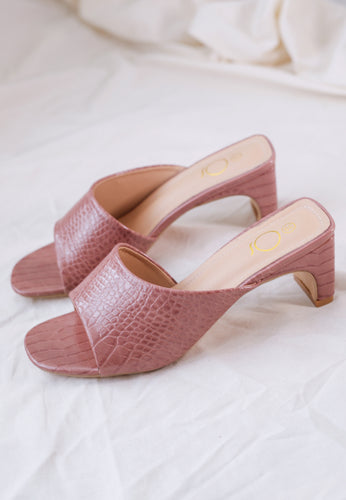 Amel Panel Mules (Dusty Purple)