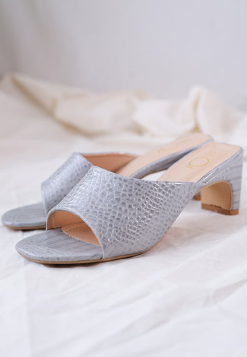 Amel Panel Mules (Dusty Blue)