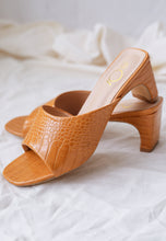 Load image into Gallery viewer, Amel Panel Mules (Mustard)