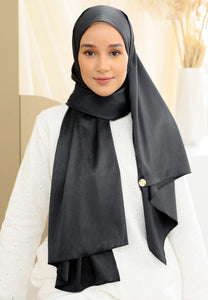 Azalea Satin Shawl (Black)