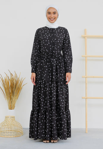 Aleea Printed Dress (Black)