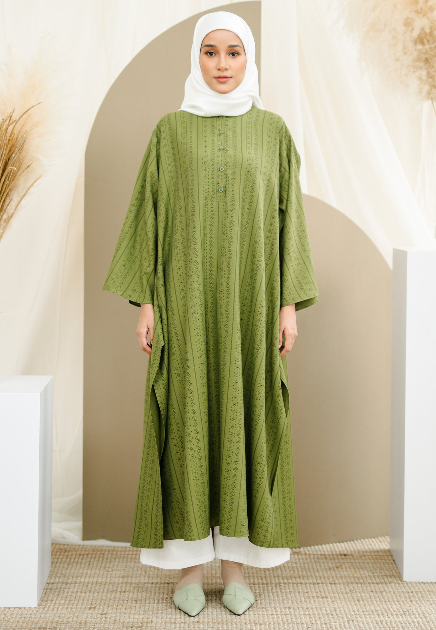 Reena Long Tunic (Green)