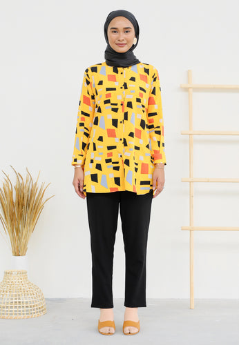 Ameena Printed Top (Yellow)