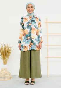 Saleena Flower Top (Green)