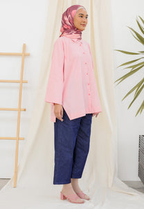 Auliaa Baggy Top (Pastel Rose)