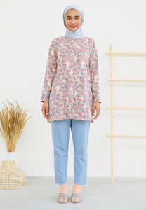 Lamees Flower Top (Nude Brown)