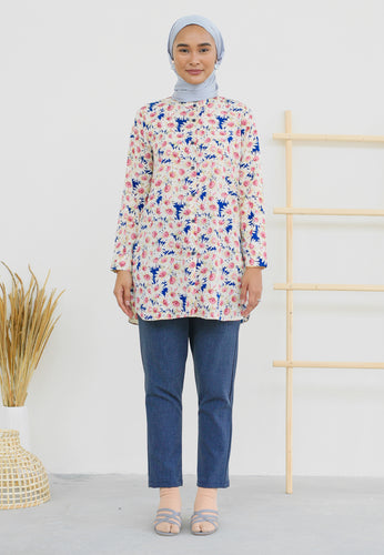 Lamees Flower Top (Royal Blue)