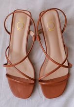 Load image into Gallery viewer, Rania Strap Mules (Caramel)