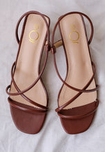 Load image into Gallery viewer, Rania Strap Mules (Walnut)