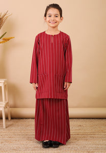 Seroja Kids Kurong (Cherry Red)