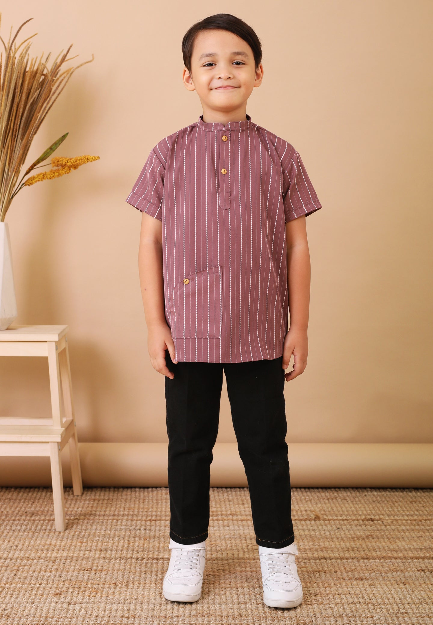 Seroja Kids Boy (Wine Purple)
