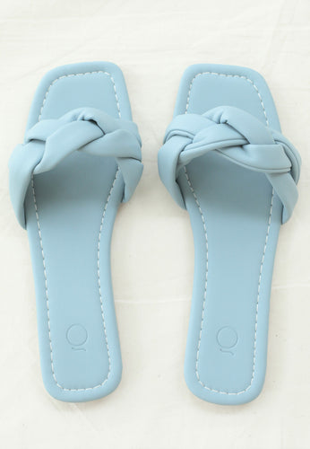 Eva Braided Sandals (Ash Blue)