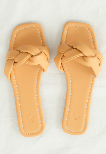 Eva Braided Sandals (Mustard Yellow)