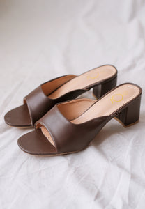 Tijani Panel Mules (Coffee)